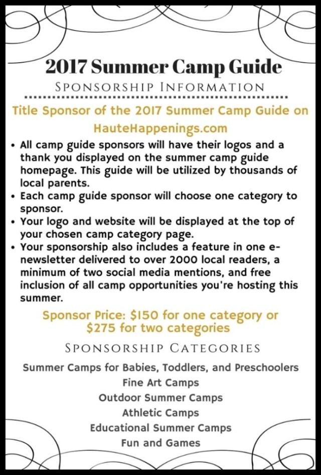 Summer Camp Guide Sponsorship