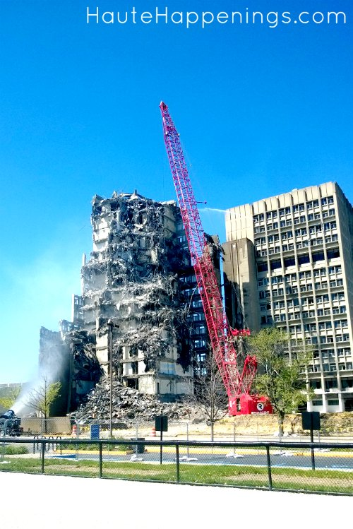 Indiana State University and the demolition of the Statesman Towers