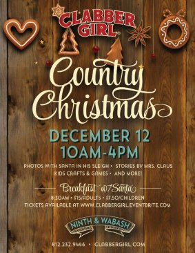 Clabber Girl Country Christmas and Breakfast with Santa