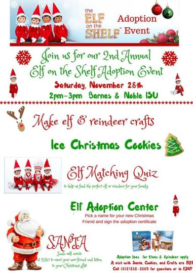 Elf on the Shelf Adoption Event in Terre Haute, Indiana