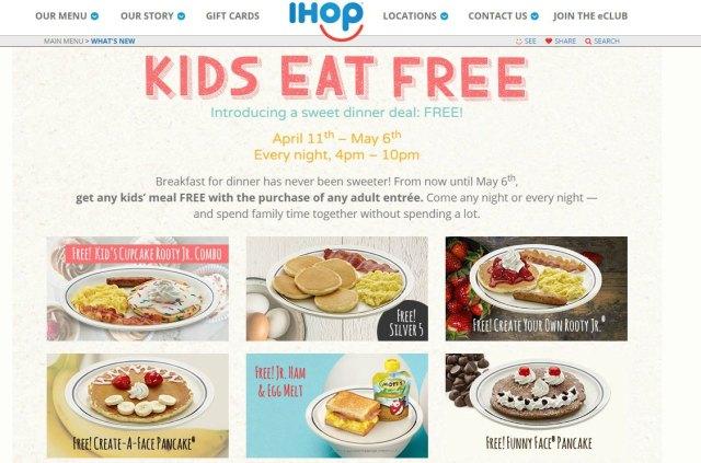 Do Kids Eat Free At Ihop