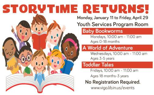 Winter 2016: Story time at the Vigo County Public Library