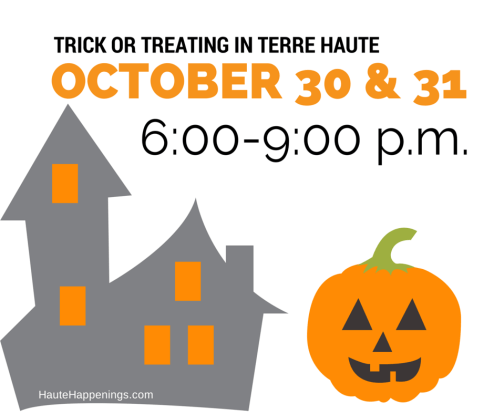Trick or Treat Times in Terre Haute