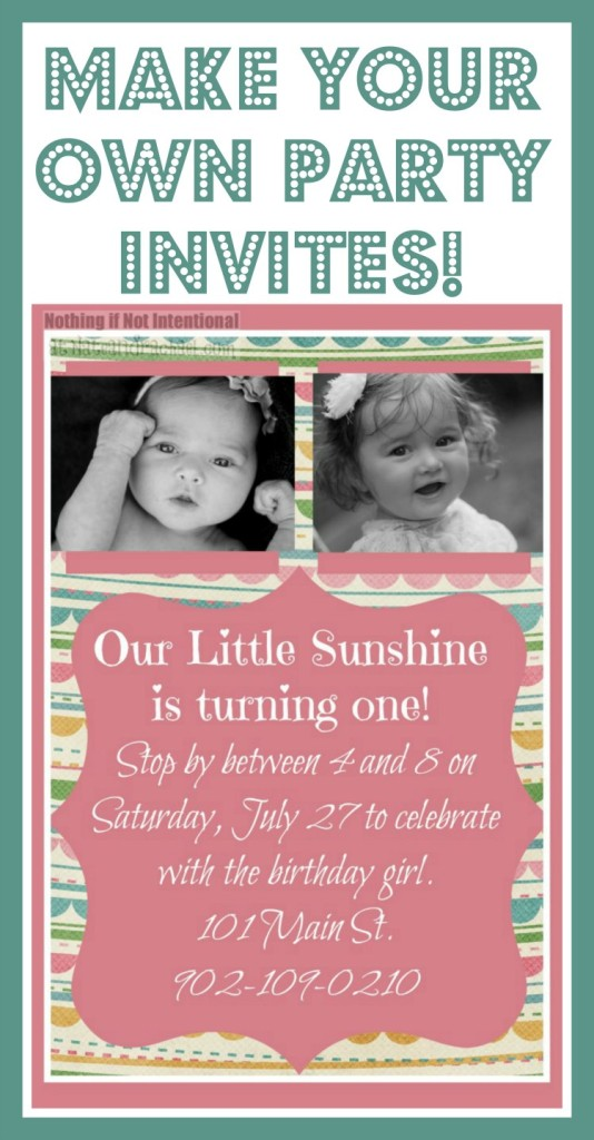 making your own birthday invitations