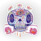 _Shooga Skull_ Stickers by nate-bear | Redbubble