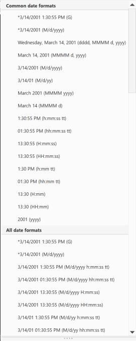 dateformats