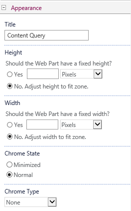 content query settings5