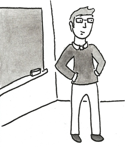 Cartoon of Nate in the Classroom