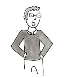 Cartoon where Nate looks happy