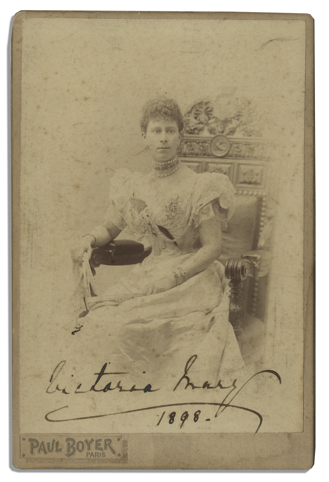 Lot Detail  Queen Mary Signed Cabinet Card From 1898