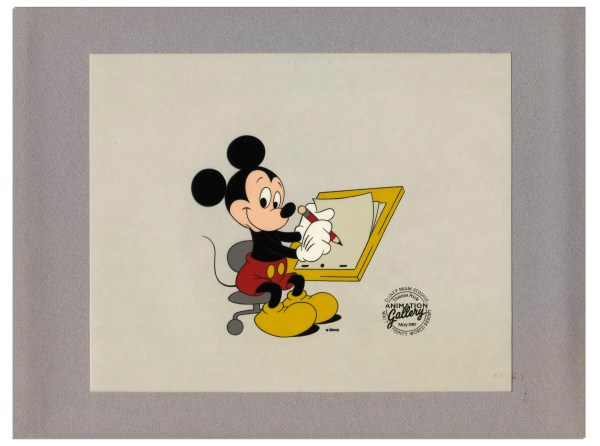 Lot Detail - Ray Bradbury Owned Disney Animation Cel Featuring Mickey Mouse