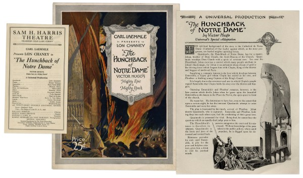Lot Detail - 1923 Theater Brochure '' Hunchback Of