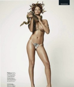 BRITISH GQ 25th ANNIVERSARY RIHANNA BY DAMIEN HIRST