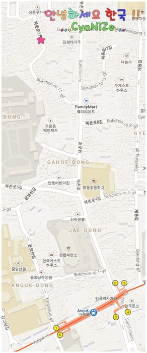 Bukchon Hanok Village Map