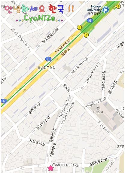 Yeolbong Jjimdak Hongdae Map