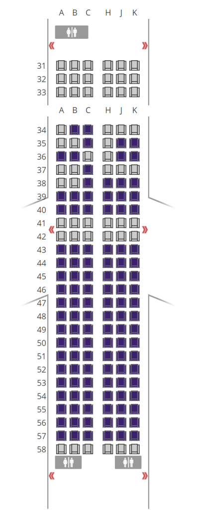 Thai Smile Airways - Seat Map