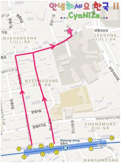 Rice Story Myeong-dong Map