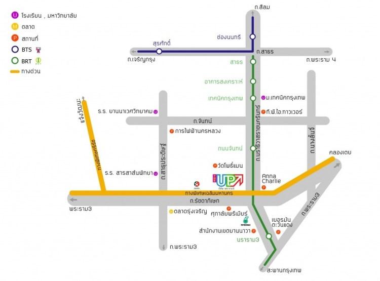 The Up Rama3 Map : แผนที่ ดิอัพ พระราม 3