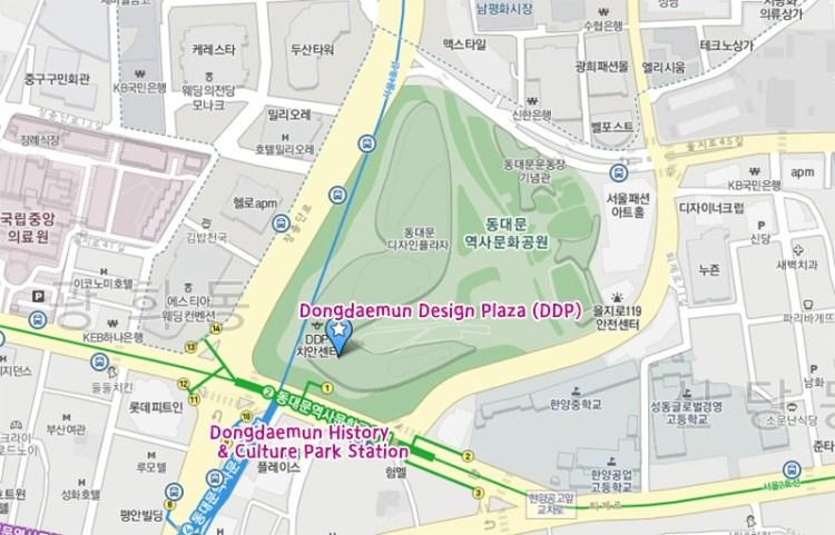 Dongdaemun Design Plaza (DDP) Map