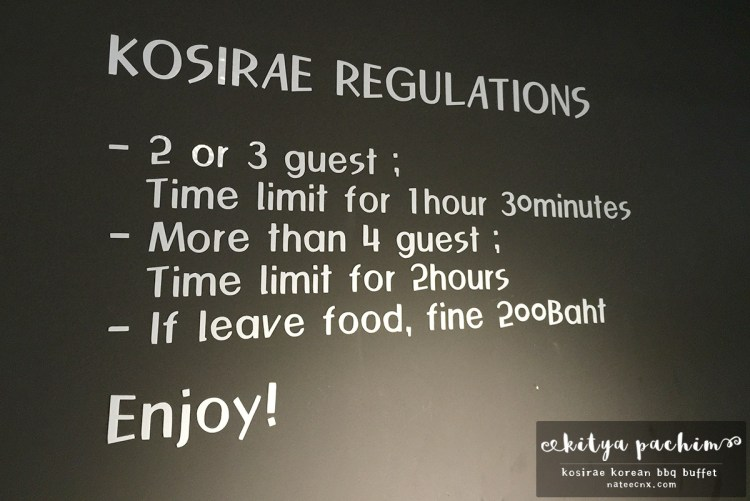 Kosirae Regulations