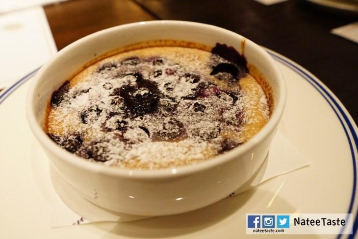 Warm Clafoutis Blueberries Cinnamon