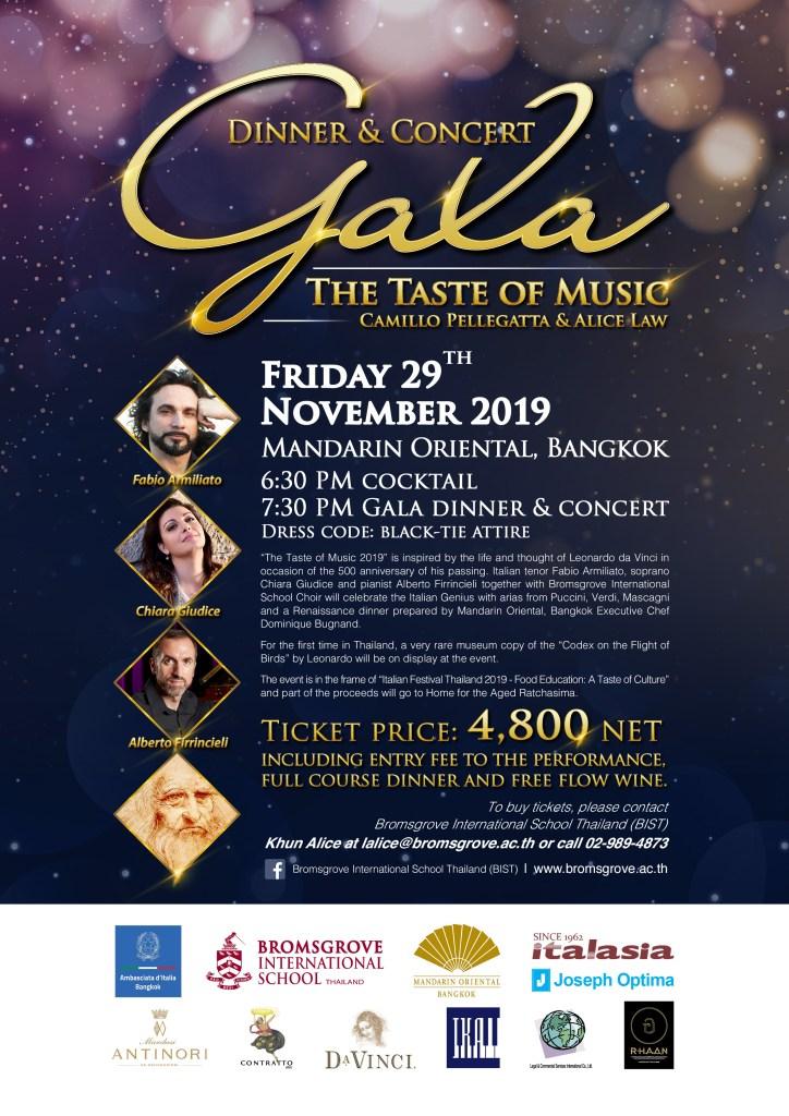 2019 Gala Dinner The Taste of Music