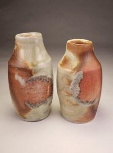 Scarred Porcelain bud vases 4x2