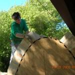 nate building a kiln in MA