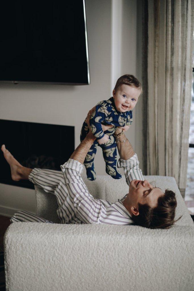 Oskar Brent Berkus with Jeremiah Daddy