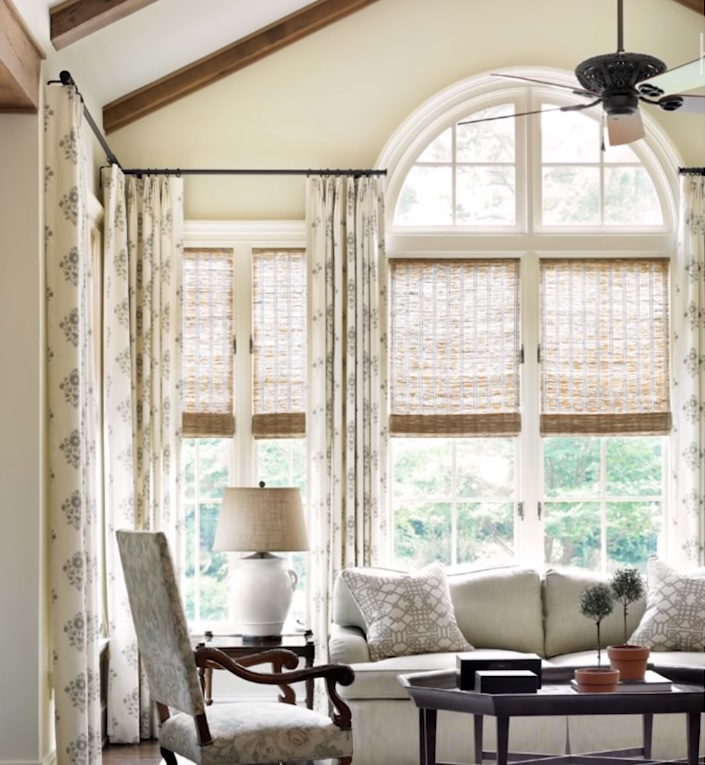 arched window treatments picture