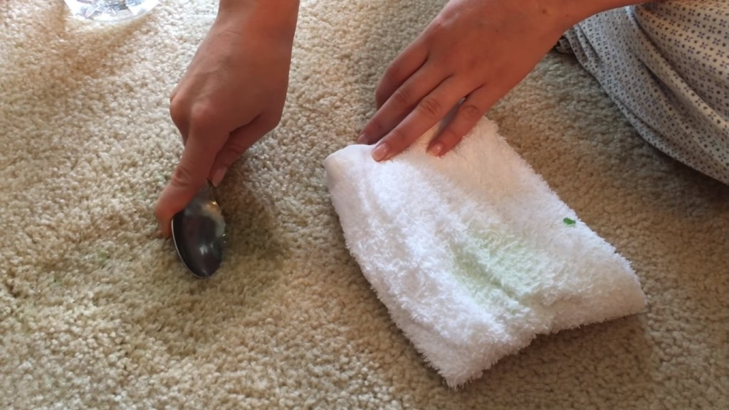 how to remove slime from carpet with spoon