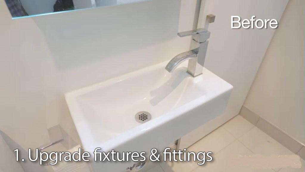 bathroom cleaning hacks sink