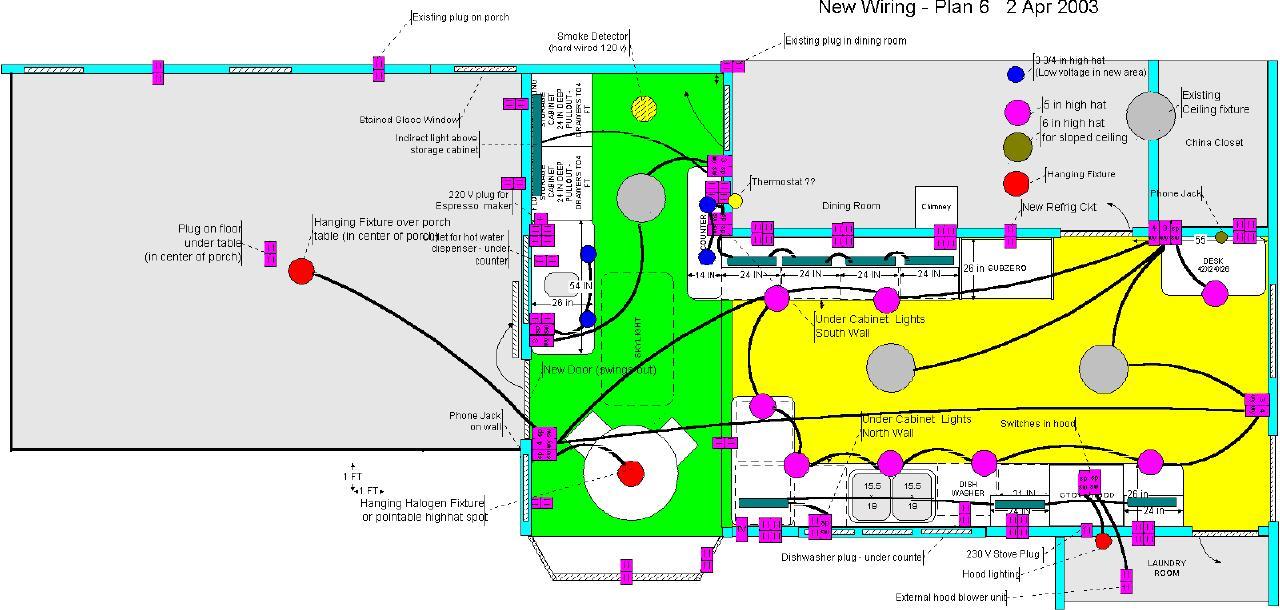 Kitchen Wiring Plan Kitchen Wiring Layout Wiring Diagrams