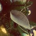 DIY burlap leaves, ornaments, Christmas tree, Pinterest