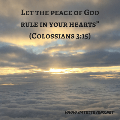 The Difference Between Peace with God and Peace of God