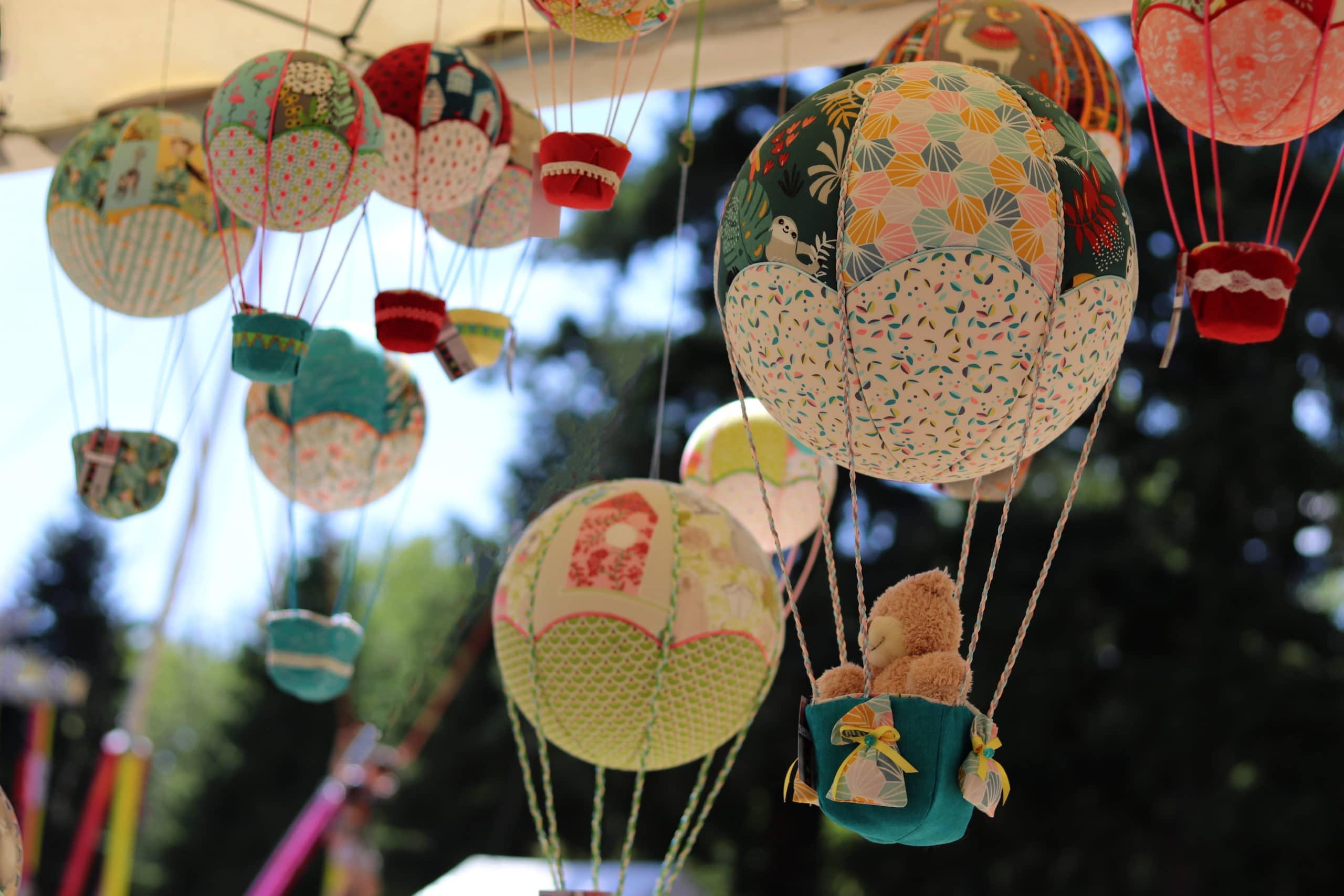 """montgolfières """" déco """" l'Art de l'Envol - Annonay - Ardèche"""