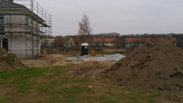 Die Bodenplatte unseres zweiten nördlichen Nachbarn.