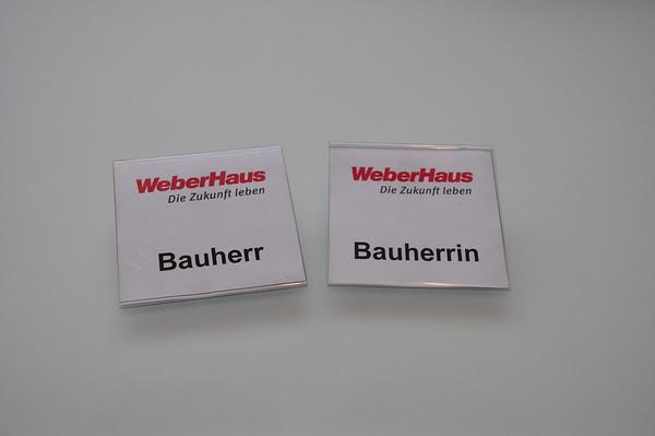 Bauherrenschild von Weberhaus