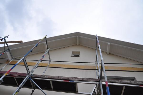 Der Dachüberstand von unten gesehen.