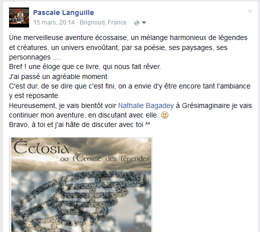 commentaire Pascale Languille après lecture d'Eclo
