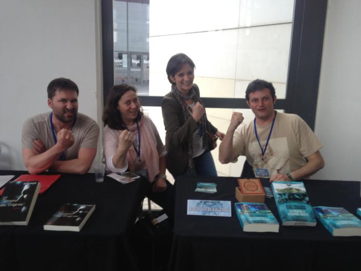 Photo piquée à Jean-Sébastien. De gauche à droite, Nicolas Pages, Nathalie Bagadey, Céline Lacomblez, Jean-Sébastien Guillermou