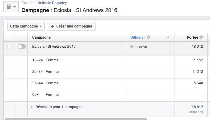 Publicités Facebok 6 - suivi