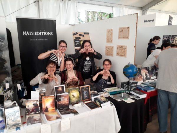 Imaginales 2018 - avec l'équipe de Nats Editions