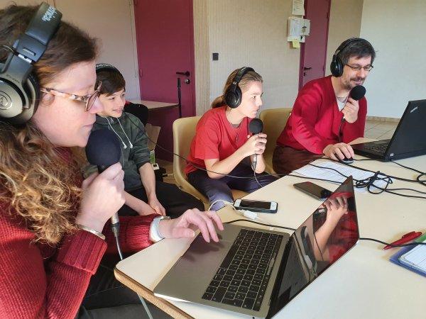 Enregistrement de l'émission par Radio Mega Valence