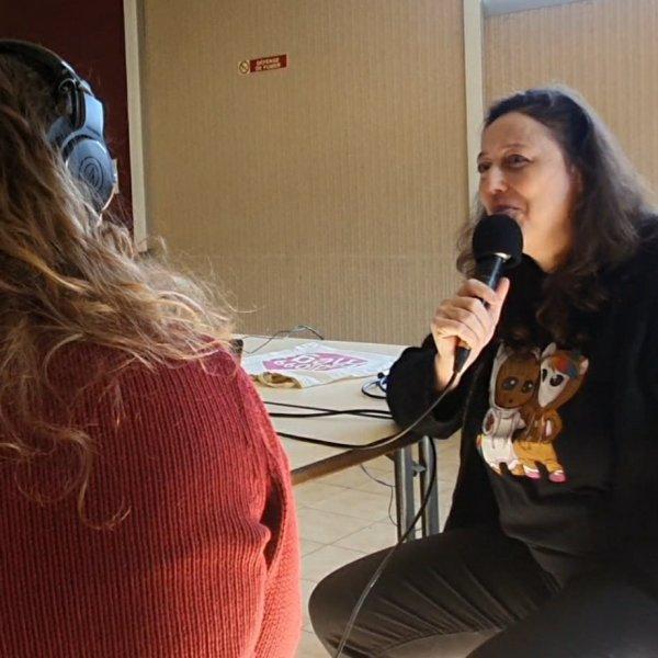 Nathalie Bagadey au micro de Radio Mega Valence