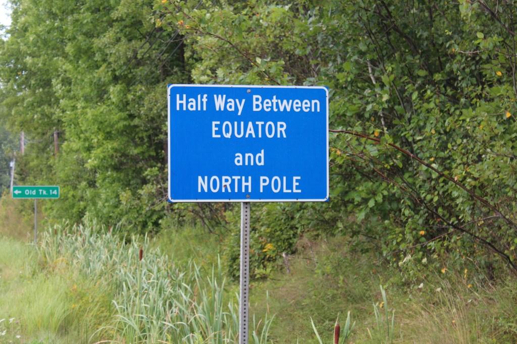 on était à mi-chemin entre le pôle nord et l'équateur