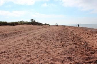 on n'était pas trop nombreux sur la plage de West point