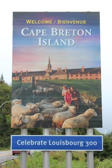 Arrivée à Cape Breton après le Canso Causeway