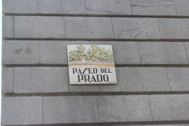 sur le Paseo del Prado bien sur