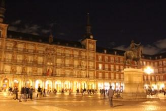 Plaza Mayor la nuit